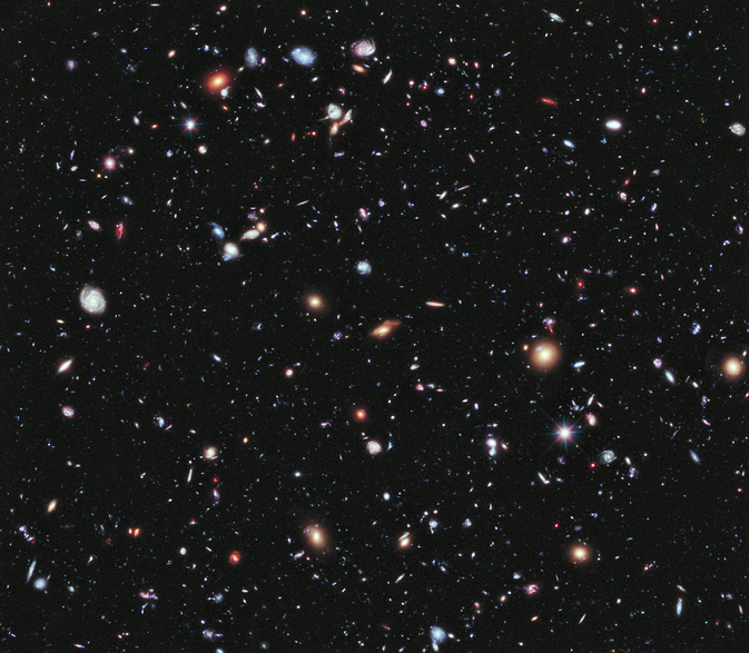 Called the eXtreme Deep Field, or XDF, image from NASA's Hubble Space Telescope contains about 5,500 galaxies. Some span back 13.2 billion years in time -- nearly to the Big Bang, and are the most distant galaxies ever seen. Image Credit: NASA