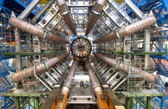 Ongoing experiments at the Large Hadron Collider have so far failed to produce evidence of WIMPs. Credit: CERN/LHC/GridPP