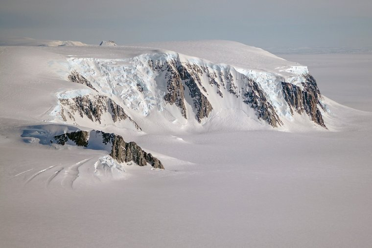 A view of mountains and glaciers in Antarctica's Marie Byrd Land seen during the Nov. 2, 2014, IceBridge survey flight. Credit: NASA / Michael Studinger