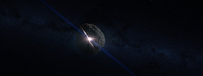 This is an artist's concept of the impact that created the asteroid Bennu. Scientists think Bennu formed when some of the rubble from a collision like this coalesced under its own gravity. Image Credit: NASA's Goddard Space Flight Center Conceptual Image Lab