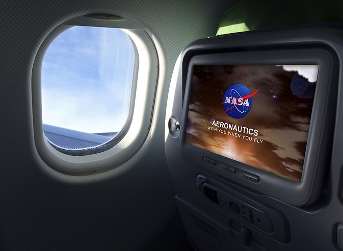Aboard fuel-efficient aircraft, inside quieter jet engines, or atop more efficient air traffic control towers, NASA is with you when you fly. Image Credit: NASA / Maria C. Werries