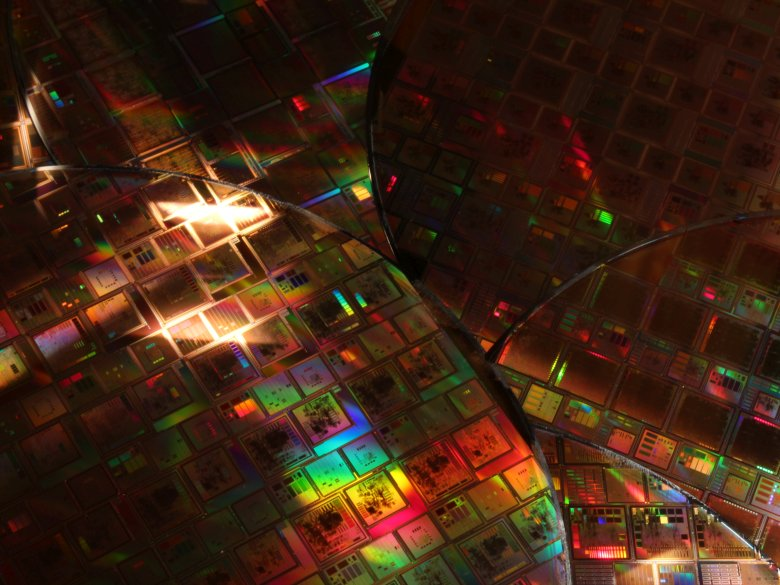 This collection of silicon wafers contain different chip designs used for European Space Agency projects. The electromagnetic levitator aboard the International Space Station will be used to study materials that make up these chips. Image Credit: ESA - Agustin Fernandez-Leon
