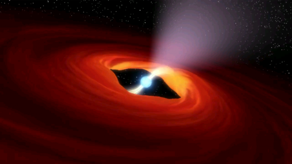 Artist's illustration of a pulsar that was found to be an ultraluminous X-ray source. Credit: NASA, Caltech-JPL