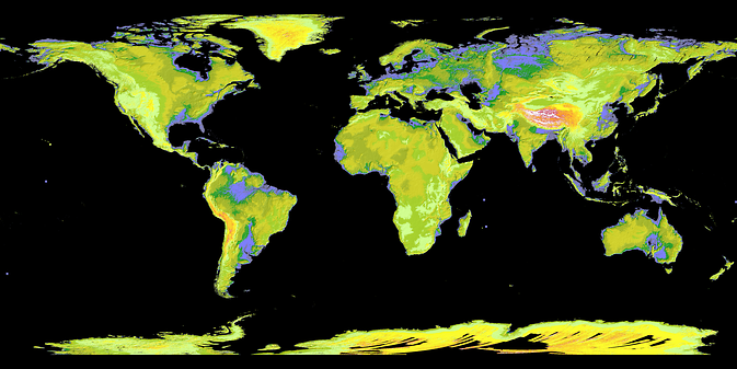 NASA and Japan's Ministry of Economy, Trade and industry (METI) released the Global Digital Elevation Model to the public on June 29, 2009. Image Credit: NASA/JPL/METI, ASTER Team