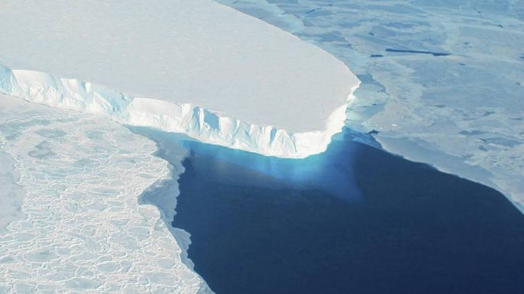 Thwaites Glacier, a melting section of the West Antarctic Ice Sheet, is predicted to contribute to significant worldwide sea-level rise. Image: NASA