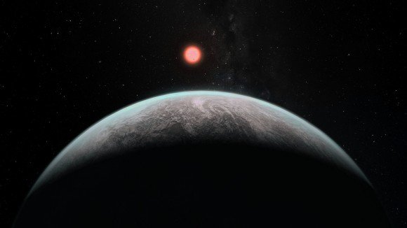 Artist's impression of how an infant earth might look. Credit: ESO.
