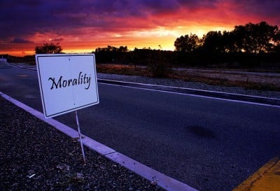 Picture: Morality. Image credit: Joel Duggan via Flickr, CC BY-NC-ND 2.0.