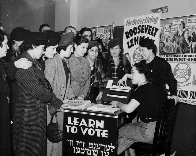 Picture: Voting. Image credit: Kheel Center via Flickr, CC BY 2.0.