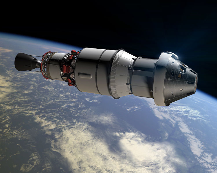 An artist's concept of Orion headed towards deep space. Credit: NASA.