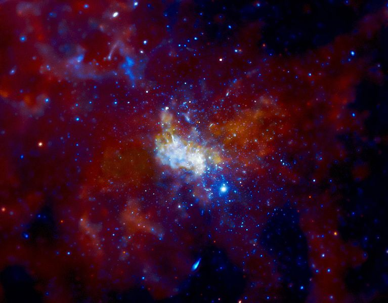 Chandra image of Sgr A* and the surrounding region. Image credit: NASA/CXC/MIT/F. Baganoff, R. Shcherbakov et al.