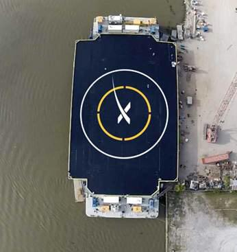SpaceX Falcon 9 first stage rocket will attempt precison landing on this autonomous spaceport drone ship soon after launch set for Dec. 19, 2014 from Cape Canaveral, Florida. Credit: SpaceX/Elon Musk