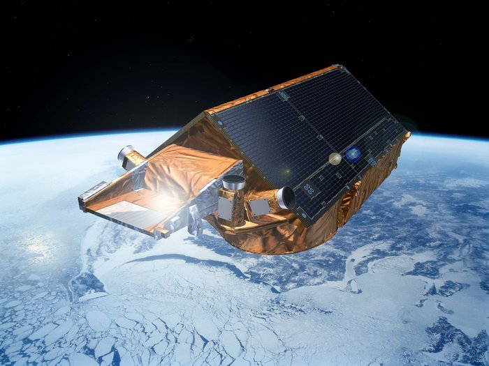 The CryoSat mission provides data to determine the precise rate of change in the thickness of the polar ice sheets and floating sea ice. It is capable of detecting changes as little as 1 cm per year. The information from CryoSat is leading to a better understanding of how the volume of ice on Earth is changing and, in turn, a better appreciation of how ice and climate are linked. Copyright ESA – P. Carril