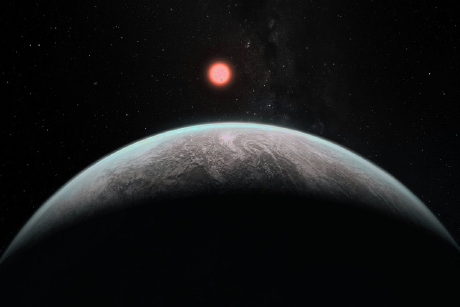 Artist's impression of how an infant earth might look. Image credit: Ramses Ramirez, Institute for Pale Blue Dots