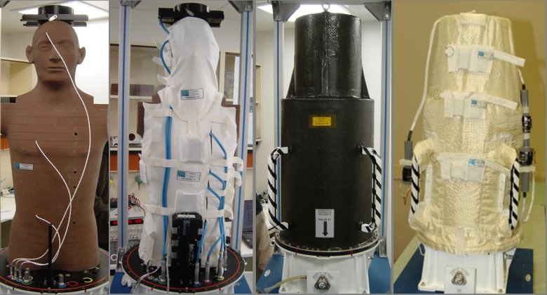 During the exposure in the open space, the MATROSHKA phantom was covered by a container imitation the shielding properties of a spacesuit. (Source: DLR)