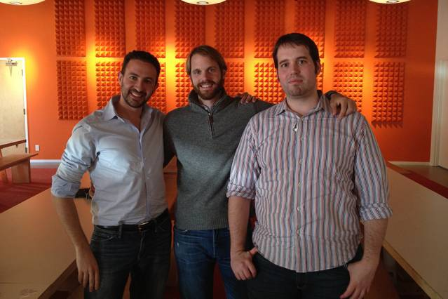 Socrative co-founders (left to right) Amit Maimon, Benjamin Berte, and Michael West. Courtesy of Amit Maimon