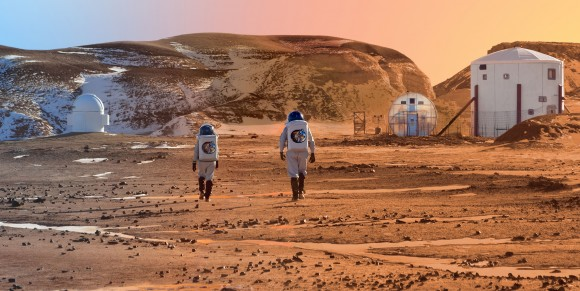 The Mars Society prototype habitat in Utah conducts studies on what it would be like to live on Mars. Image Credit: Mars Society MRDS