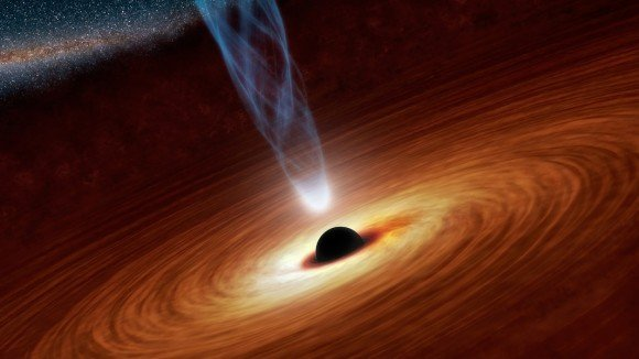 Artist's concept of Sagittarius A, the supermassive black hole at the center of our galaxy. Credit: NASA/JPL-Caltech
