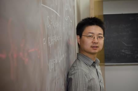 Xinwen Zhu, associate professor of mathematics. Credit: Lance Hayashida/Caltech Marketing and Communications