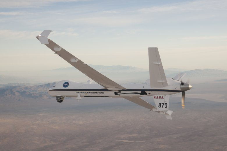 Weather permitting, a NASA unmanned aircraft system flown by an Armstrong research pilot will be used to provide video of Orion as it approaches splashdown. Image Credit: NASA / Carla Thomas