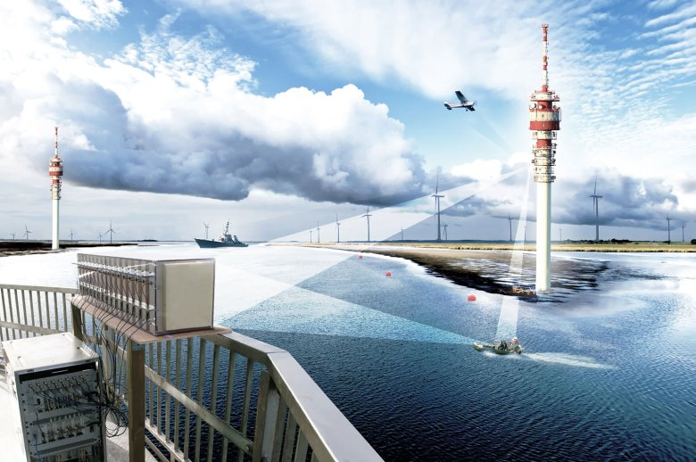 The PCL system also detects the motion of moving boats. © Fraunhofer FKIE