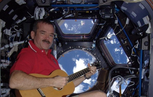 Canadian astronaut Chris Hadfield in the Cupola of the International Space Station. Credit: NASA/CSA