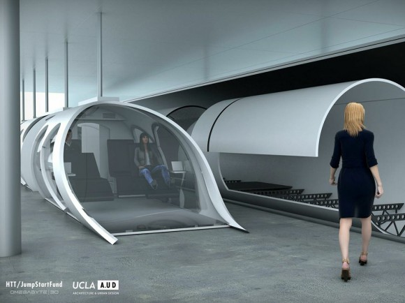 "Concept art showing different ""classes"" for travel, which would include business class for those who can afford it. Credit: HTT/JumpStartFund"