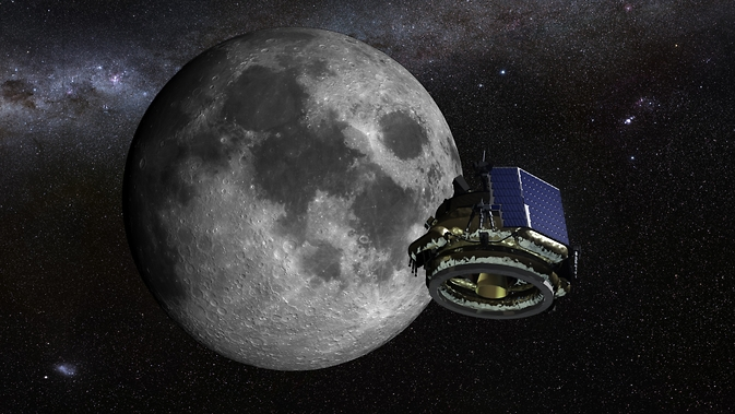 An artist illustration of the Moon Express MX-1 lunar lander on its mission to the moon. Image Credit: Courtesy of Moon Express Inc.