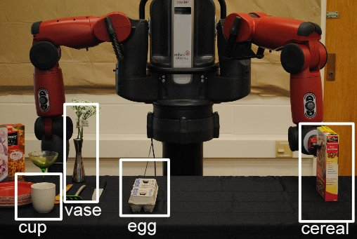 Robot uses RoboBrain to plan trajectory. Image courtesy of the researchers.