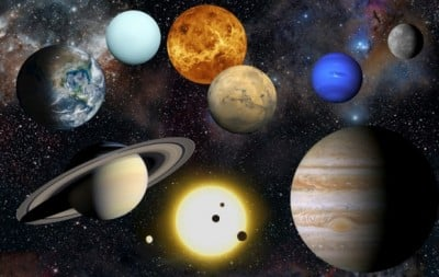 Artist's impression of the planets in our solar system, along with the Sun. Credit: NASA