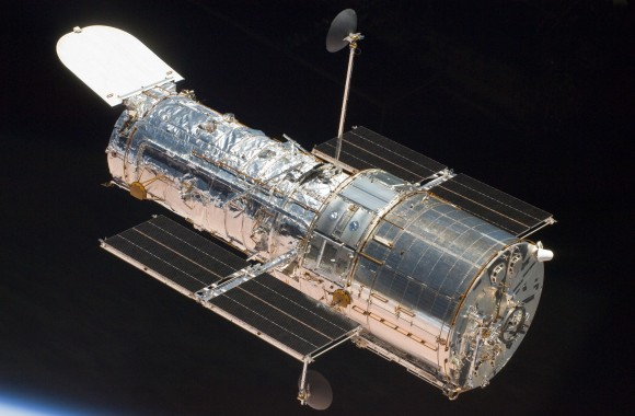 The Hubble Space Telescope viewed by the STS-125 shuttle repair crew in 2009. Credit: NASA