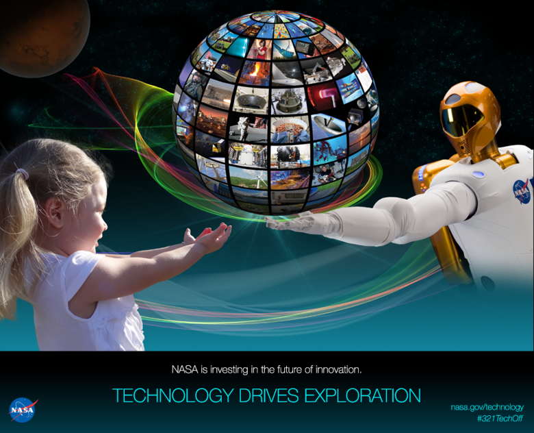 Technology demonstrations aboard the International Space Station help drive space exploration. Image Credit: NASA