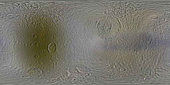 Map of Tethys (before and after). Image Credit: NASA/JPL-Caltech/SSI/LPI