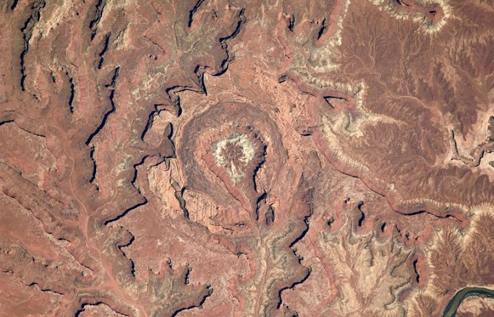 Image of Upheaval Dome, Utah, an impact crater, requested by Connetquot High School. Image Credit: NASA