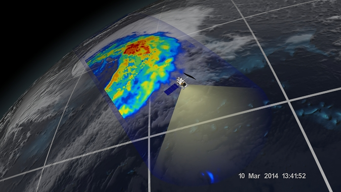 An extra-tropical cyclone seen off the coast of Japan, March 10, 2014, by the GPM Microwave Imager. Image Credit: NASA/JAXA