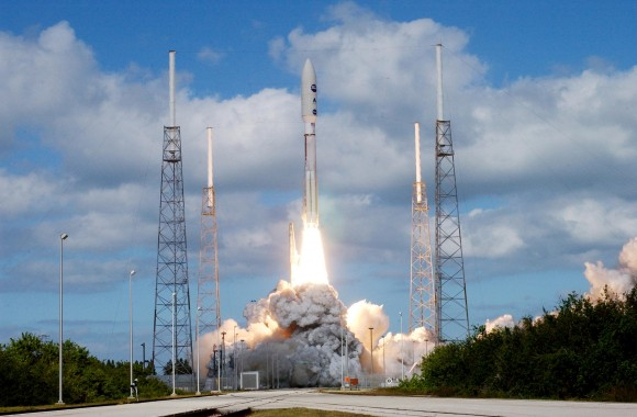 Almost there… the launch of New Horizons from Cape Canaveral. Credit: NASA.