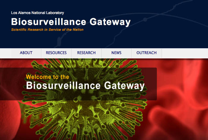 The site offers a variety of Los Alamos-developed biosurveillance tools that can be used for decision support in disease surveillance.