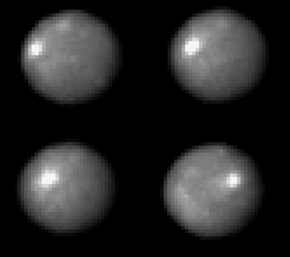 Images from the Hubble Space Telescope in 2004 of Ceres. Credit: NASA/Hubble.