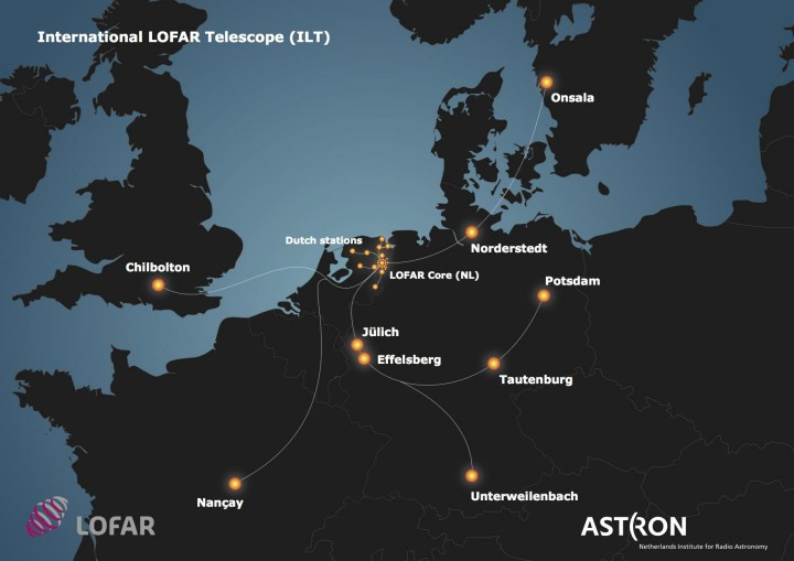 The International Lofar Telescope has its core in the Netherlands and stations in Sweden, France, the UK and Germany. Three new stations are being built in Poland. Image credit: Astron