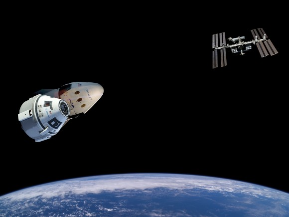 Boeing and SpaceX are building private spaceships to resume launching US astronauts from US soil to the International Space Station in 2017. Credit: NASA