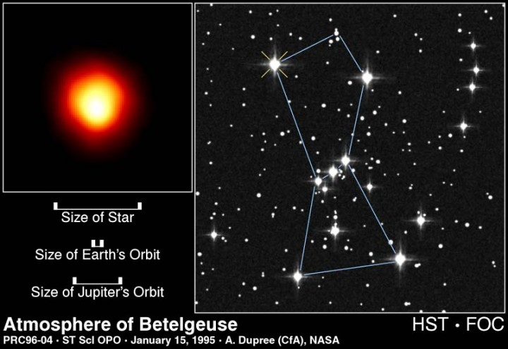Betelgeuse, as seen by the Hubble Space Telescope.