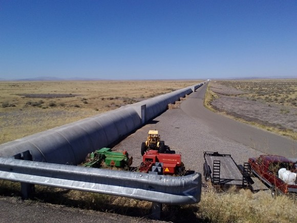 Looking down one of the arms of LIGO Hanford. Credit: Photo by author.