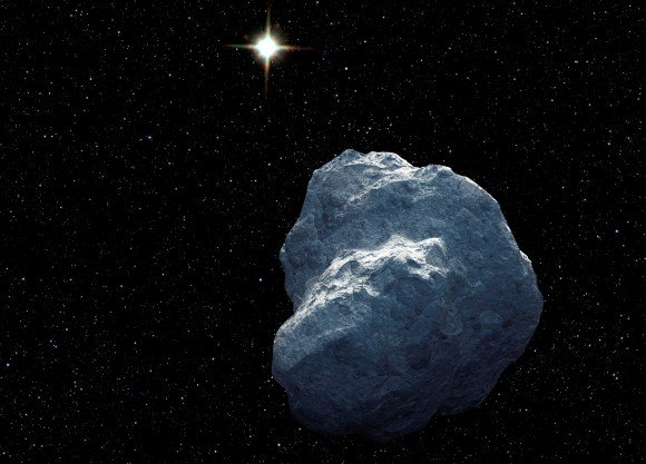 An artist's concept of a Trans-Neptunian Object (TNO). The distant sun is reduced to a bright star at a distance of over 3 billion miles. The Dark Energy Survey (DES) has now released discovery of more TNOs. (Illustration Credit: NASA)