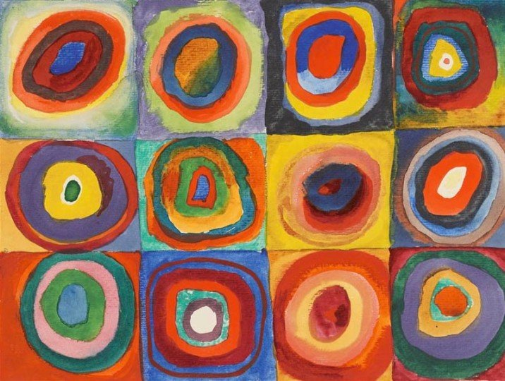 Picture: Color Study, Squares with Concentric Circles, Painting by Vassily Kandinsky, 1913. Image source: Wikimedia Commons.