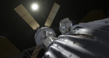 An artist's concept of an asteroid retrieval mission. Credit: NASA.