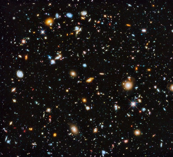 The Hubble Ultra Deep Field seen in ultraviolet, visible, and infrared light. Image Credit: NASA, ESA, H. Teplitz and M. Rafelski (IPAC/Caltech), A. Koekemoer (STScI), R. Windhorst (Arizona State University), and Z. Levay (STScI)