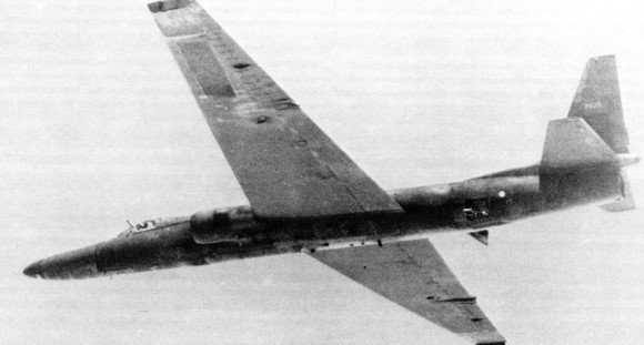 """Undated image of a U-2 aircraft on an """"operational mission."""" Credit: Central Intelligence Agency"""