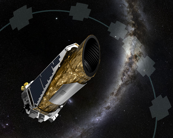The artistic concept shows NASA's planet-hunting Kepler spacecraft operating in a new mission profile called K2. Using publicly available data, astronomers may have confirmed K2's first discovery of star with more than one planet. Image Credit: NASA Ames/JPL-Caltech/T Pyle