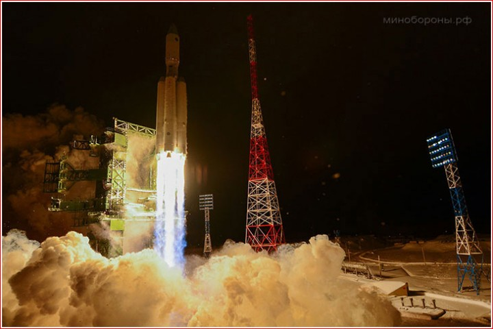 The first Angara-A5 rocket lifts off on Dec. 23, 2014. Image source: russianspaceweb.com
