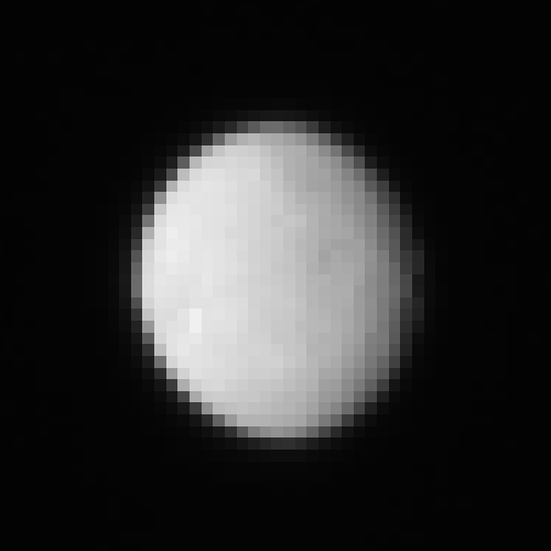 This is a zoomed-in raw image, taken Jan. 13, 2015, showing the dwarf planet Ceres as seen from the Dawn spacecraft on its approach. Surface features have started to become apparent in the image. Dawn's framing camera took this image at 238,000 miles (383,000 kilometers) from Ceres. Image Credit: NASA/JPL-Caltech/UCLA/MPS/DLR/IDA