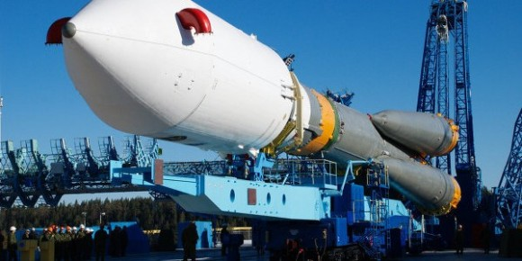 Soyuz-2 rocket preparing to launch from the Plesetsk Cosmodrome in June, 2013. Image Credit: Russian Space News
